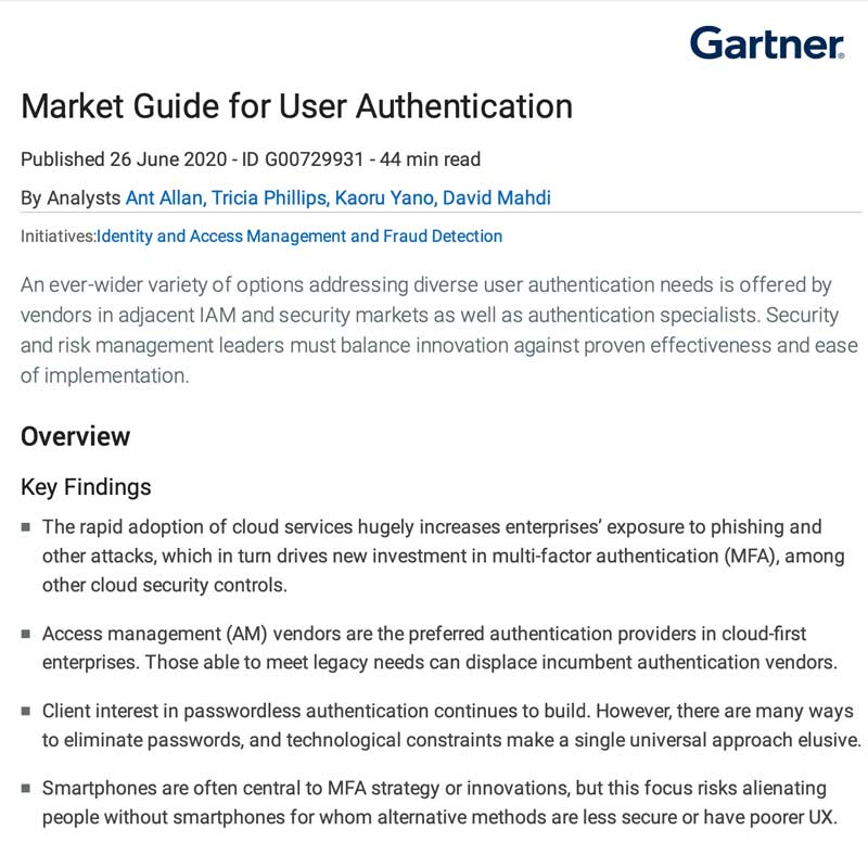 Gartner Market Guide 2020
